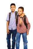 Team van twee broers Stock Foto's