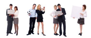 Team van verschillende bedrijfsmensen Stock Afbeeldingen