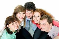 Team van vijf Royalty-vrije Stock Afbeelding