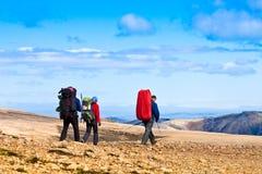 Team van wandelaars Royalty-vrije Stock Afbeeldingen