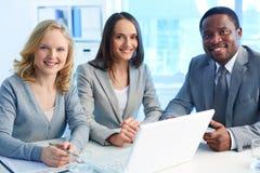 Team van werknemers Stock Foto