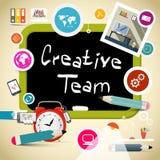 Team Vector Illustration créatif Photographie stock