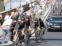 联合利华路世界冠军,佛罗伦萨2013.Team Velociosports,种族的优胜者 免版税库存图片