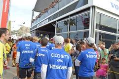 Team Ventas Wind About To avresa Royaltyfri Bild