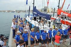Team Vestas Crew Line Up royalty-vrije stock afbeelding