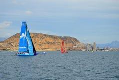 Team Vestas Wind Departing Alicante stock afbeeldingen