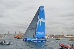 Team Vestas Wind On Their väg Royaltyfria Foton