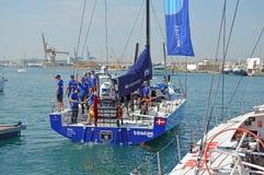 Team Vestas Wind Volvo Ocean lopp 2014 - 2015 Royaltyfri Fotografi