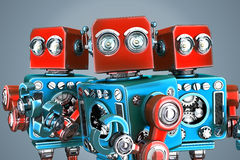 A team of vintage robots. Contains clipping path Royalty Free Stock Image