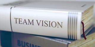 Team Vision - Buch-Titel Team Vision 3d Stockfotos