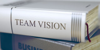 Team Vision - titre de livre Team Vision 3d Photos stock