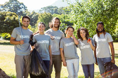 Team of volunteers picking up trash Royalty Free Stock Photo