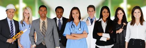 Team von Arbeitskräften stockfoto