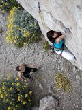 Team von Bergsteigern Lizenzfreie Stockfotografie