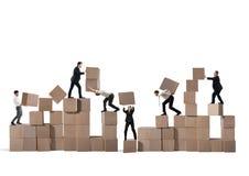 Team von Wirtschaftlern errichten eine neue Firma Lizenzfreies Stockfoto