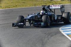 Team Williams F1, Pastor Maldonado, 2011 Royalty Free Stock Image