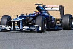 Team Williams F1, Pastor Maldonado, 2012 Stock Photos