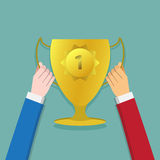 Team win, Win together. contest for winner. abstract psychology Royalty Free Stock Images