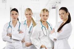 Team of women medial doctors Stock Image