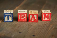 Team wood blocks Royalty Free Stock Photos