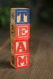 Team wood blocks Stock Image