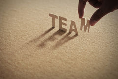 TEAM wood word on compressed board Royalty Free Stock Image