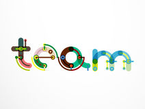 Team word lettering banner Royalty Free Stock Photo