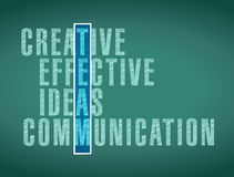 Team word selection illustration design Stock Images