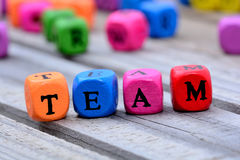 Team word on table Royalty Free Stock Image