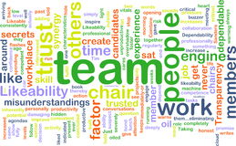 Team wordcloud Royalty Free Stock Images