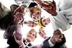 Team Work. A group of young people together royalty free stock images