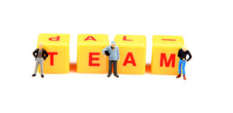 Team work. Concept image of team work on white background Royalty Free Stock Photos