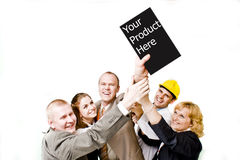 Team Work. A group of young people together stock photography