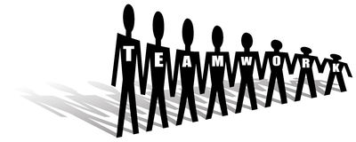 Team work. Business people team work - vector illustration Royalty Free Stock Photos