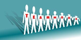 Team work. Business people team work -  illustration Stock Image
