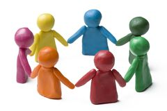 Team work. People in the circle - team work Royalty Free Stock Image