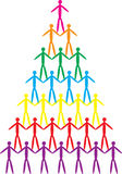 Team work. A colorful teamwork illustration of pyramid shape Royalty Free Stock Photo
