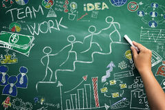 Team work advancement Royalty Free Stock Photography