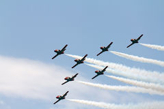 Team work on an airshow Royalty Free Stock Photo