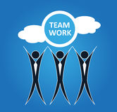 Team work background Stock Image