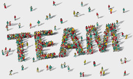 Team work big group people. Royalty Free Stock Image