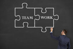 Team Work on Blackboard Royalty Free Stock Images