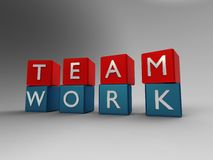 Team work blue and red Stock Image