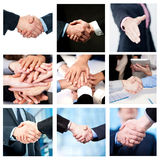 Team work and business handshake, collage Royalty Free Stock Photography