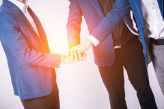 Team work concep. Business people joining hands. Stock Photo