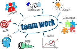 Team work concept. For business concept illustration Royalty Free Stock Photo