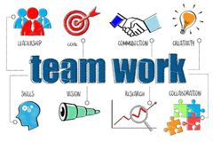 Team work concept. For business concept illustration Royalty Free Stock Image