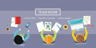 Team Work Concept. Business Meeting stock illustration