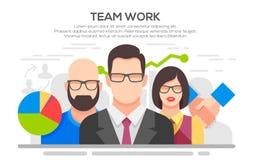 Team work concept flat illustration. Teamwork. Business concept. Team work concept illustration. Business people teamwork, human resources, career opportunities Stock Photo