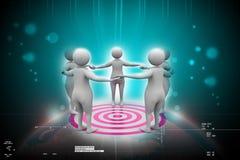 Team work concept stock illustration